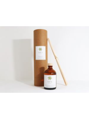 Amber glass 100ml reed diffuser with your design branded to the bottle and cardboard tube label.