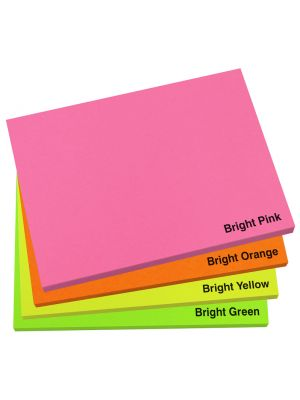 100mm x 75mm Bright Sticky Note Pad- Colour Options