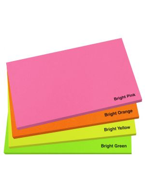 127mm x 75mm Bright Sticky Note Pad- Colour Options