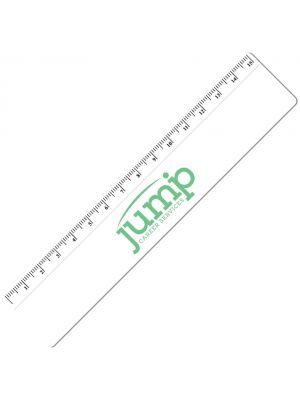15cm Plastic Ruler- White with printing