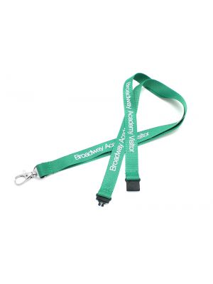 15mm Flat polyester lanyard branded with your logo