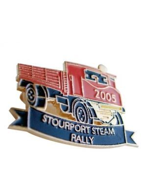 Die stamped enamel badge with a soft enamel infill, your design up to 25mm.