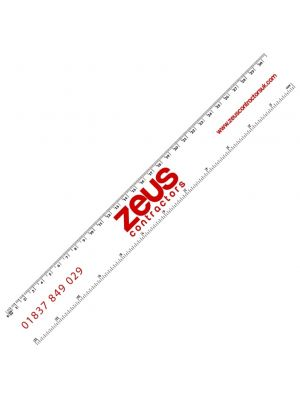 30cm Plastic Ruler- White with printing