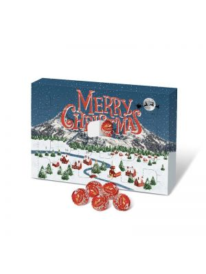 A5 Lindor Advent Calendar with your branding printed to the front.