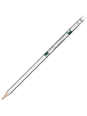 Argente Pencil with Eraser- Silver with printing