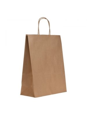Brown Paper Carrier Bag- Twisted Handle