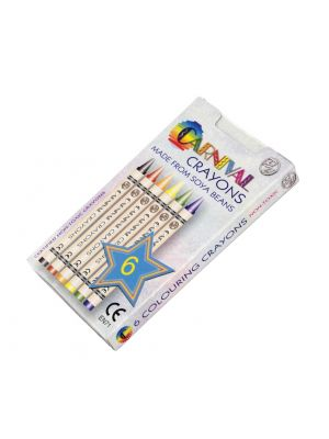 Carnival Crayons 6 Pack- Carnival Themed Box (Front)