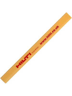 Carpenter Pencil- Yellow with printing