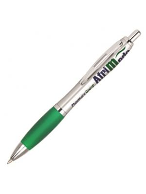 Contour Argent Ballpoint Pen- Green with printing