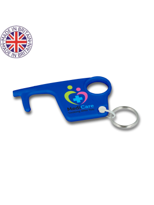Coloured No-Touch Hygiene Hook Keyring