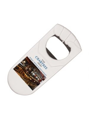 Fist Shaped Bottle Opener- White with printing