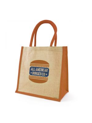 Halton Jute Bag- Amber