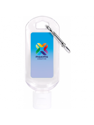 Hand Sanitiser Gel with Carabiner Clip 50ml