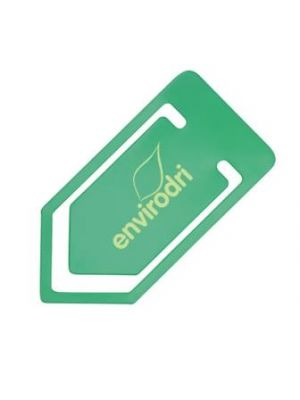 Large Recycled Paper Clip- Green
