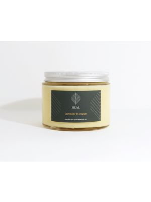 Large 3-Wick Glass Jar Candle with your branding printed to the front label.