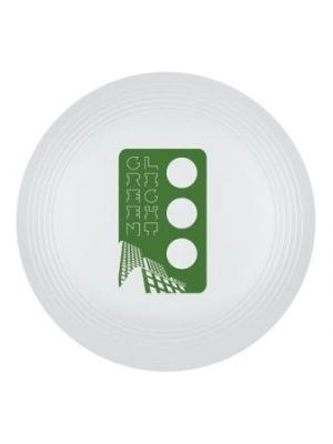 Large Recycled Frisbee- White