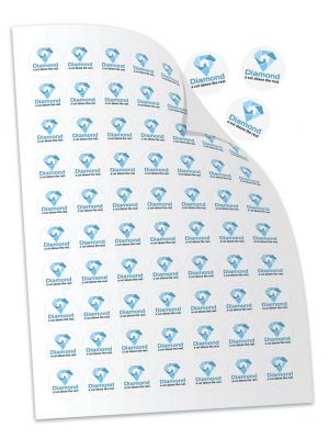 Sheet of stickers printed with your company branding.