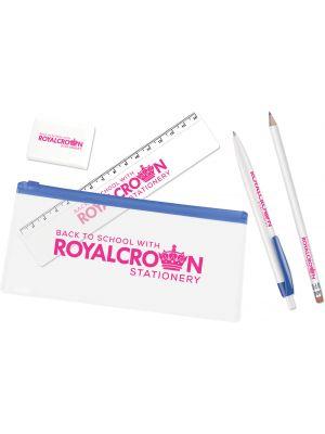 Pencil Case Kit- Blue Trim