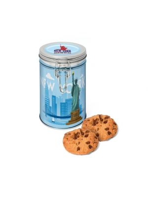 Silver Flip Top Tin with Maryland Cookies