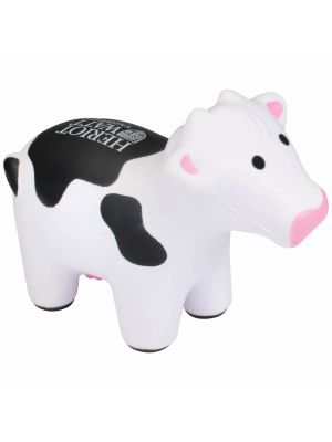 Stress Ball- Cow- Black and White