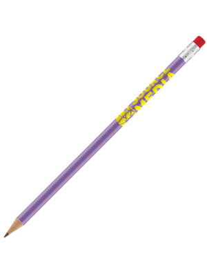 Recycled Plastic Supersaver Pencil- Lilac with printing