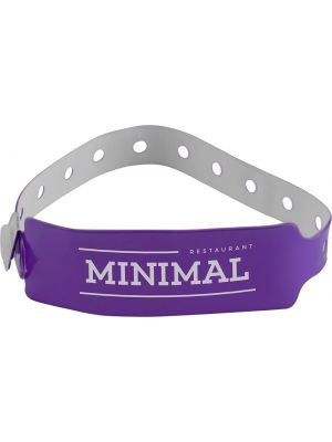 Vinyl Wristband- Big Face Purple
