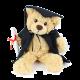 26cm Graduation Teddy Bear- Bertie Beige