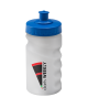 300ml Baseline Bottle- Printed Clear Bottle with a Blue Push Pull Lid