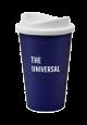 Standard Universal Travel Mug- Navy mug with a white lid