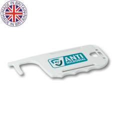 White No-Touch Antimicrobial ID Card Holder