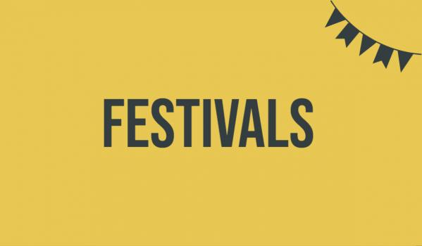 Festivals are back so it's time to promote them!