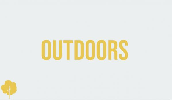 The great outdoors...